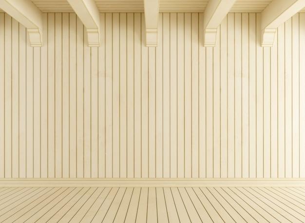Lege ruimte met licht hout