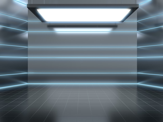 Lege ruimte van laboratorium voor productshowcase