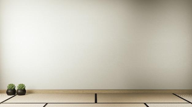 Lege ruimte wit op houten vloer interieur. 3d-rendering