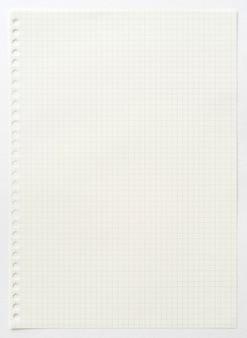 Lege ruitjespapier achtergrond. witboeksjabloon voor kunst, tekenen, ideeschets en creatieve achtergrond. detailopname.
