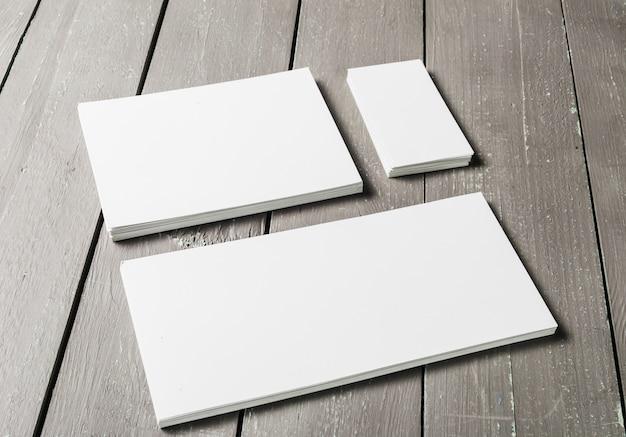 Lege set van briefpapier