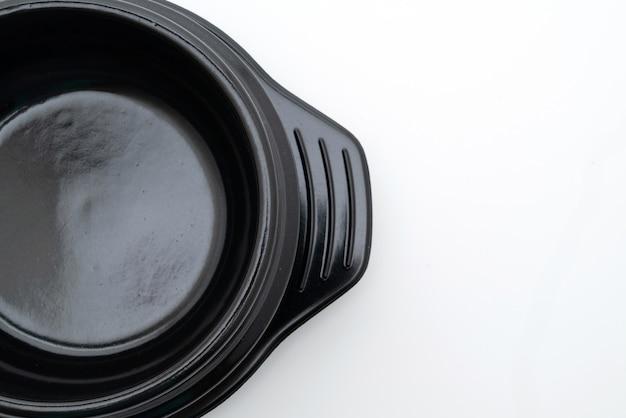 Lege soep zwarte kom (aarden pot) in koreaanse stijl