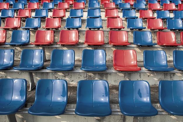 Lege stoel op stadion voor sport fanclub