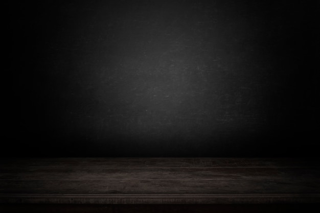 Lege tabel met donkere achtergrond