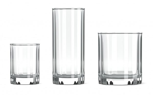 Lege tafelglas set