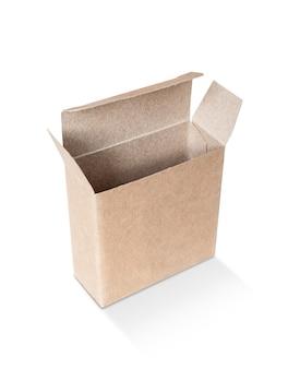 Lege verpakking opende kraft gerecyclede kartonnen doos voor product