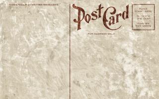 Lege vintage postcard grunge editie