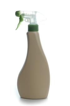 Lege wasmiddel spray fles geïsoleerd op witte geïsoleerde achtergrond