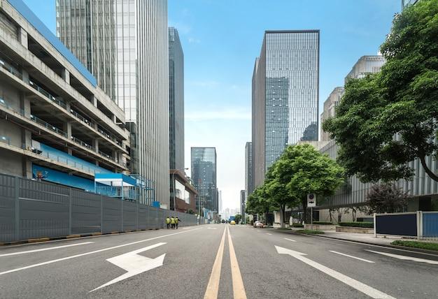 Lege weg met cityscape van chongqing, china