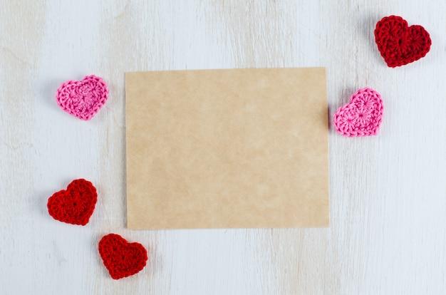 Lege wenskaart voor st. valentijnsdag