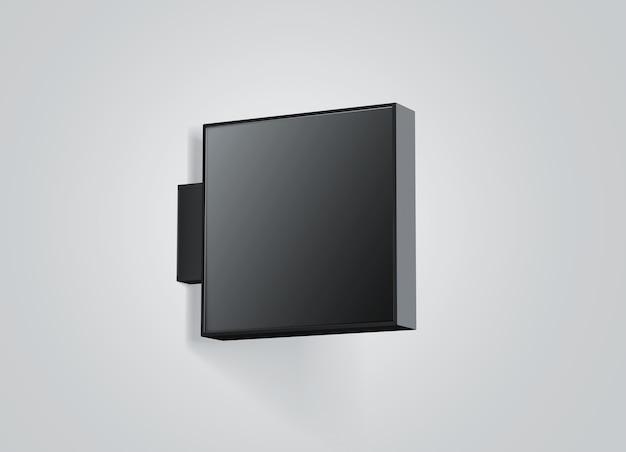 Lege winkel buiten zwarte bewegwijzering geïsoleerd Premium Foto