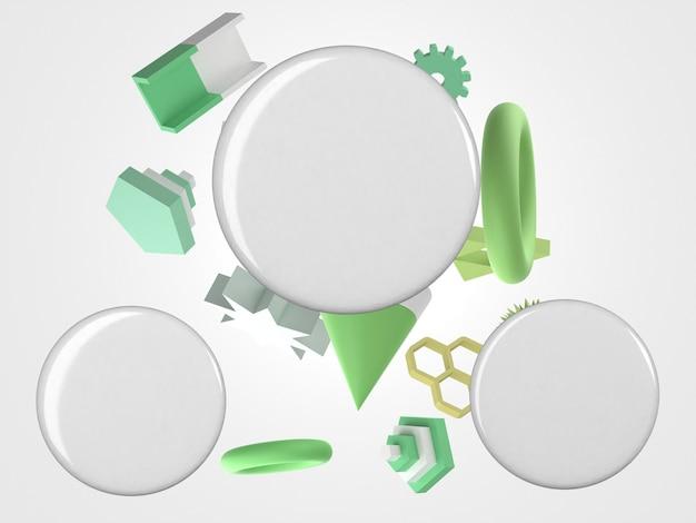Lege witte badges en vliegende voorwerpen