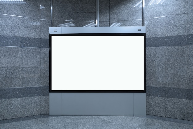 Lege witte billboard mockup achtergrond, 16: 9
