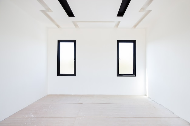 Lege witte kamer plafond gipsplaat