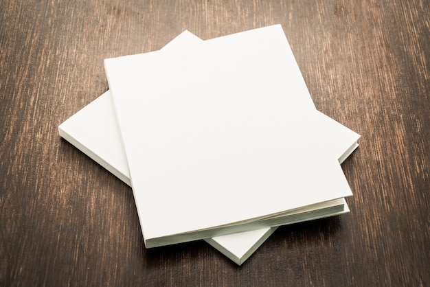Lege witte mock up boek