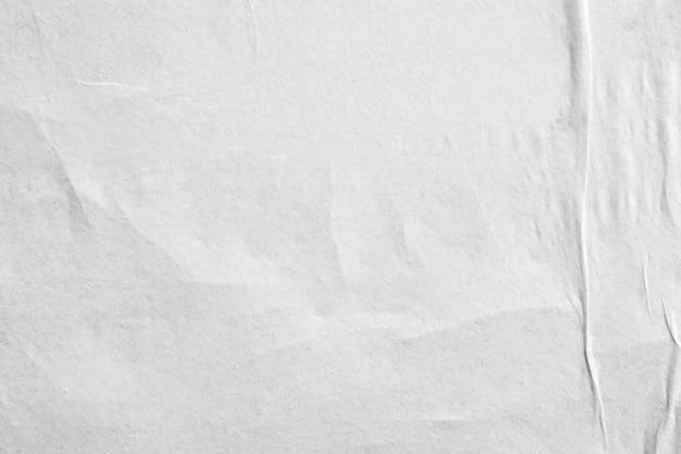 Lege witte verfrommeld en gevouwen papier poster textuur