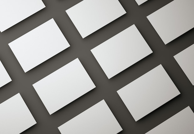Lege witte visitekaartjes ontwerpsjabloon op zwart