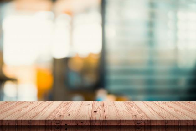 Lege wodd lijst met onduidelijk beeldkoffie of koffiewinkelachtergrond.