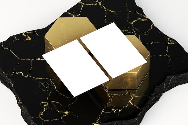 Lege zakelijke briefpapier witte visitekaartjes