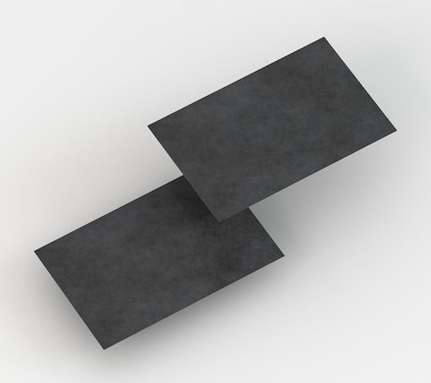 Lege zakelijke briefpapier zwarte visitekaartjes hoge weergave