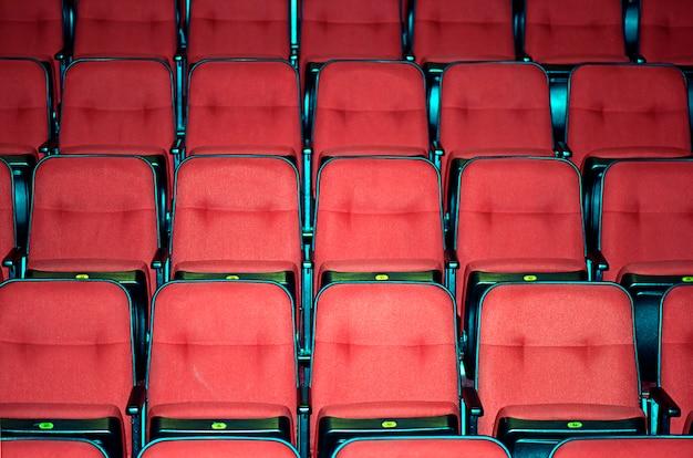 Lege zitplaatsen van een theater