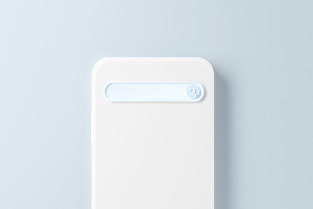 Lege zoekmachinebalk op mobiele telefoon