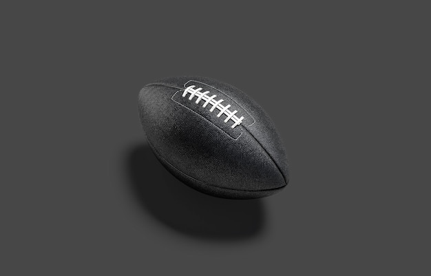 Lege zwarte amerikaanse voetbalbal-mockup lege amerikaanse voetbalbal voor penalty of touchdown-mock-up
