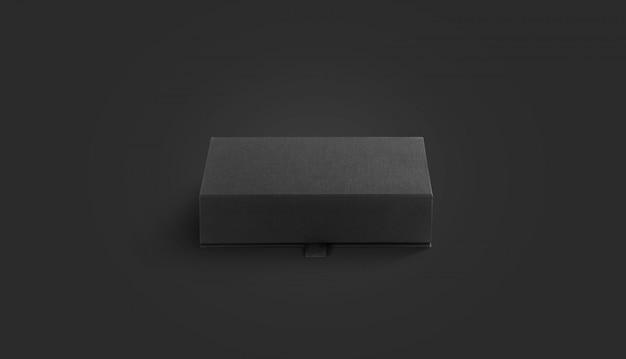 Lege zwarte gesloten stoffen doos
