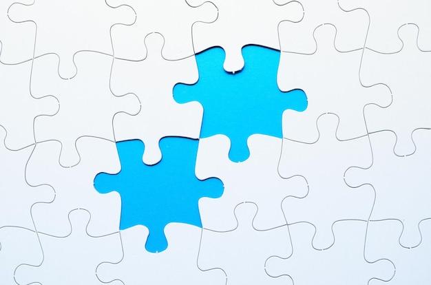 Legpuzzel met ontbrekend stukje