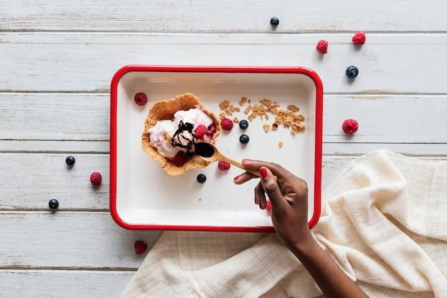 Lekker berry-ijswafel