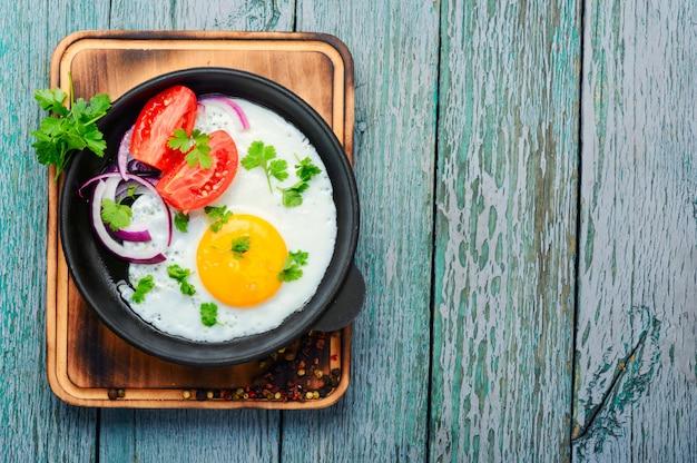 Lekker eten gebakken ei
