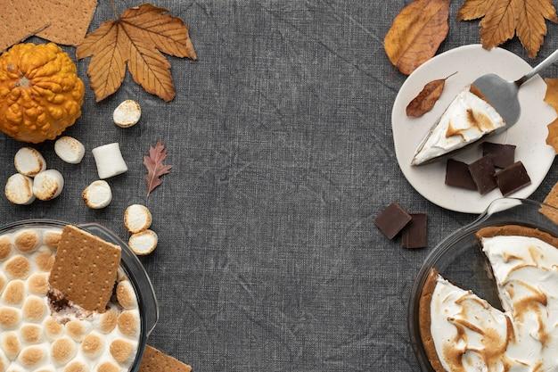 Lekker s'mores-dessert op tafelschikking