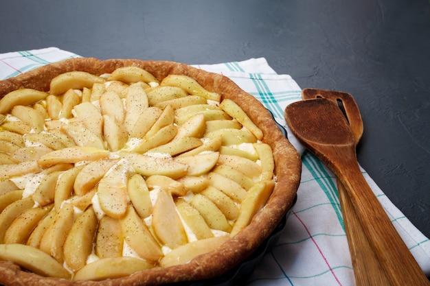 Lekkere appeltaart op schotel