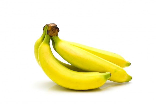 Lekkere banaan geïsoleerd