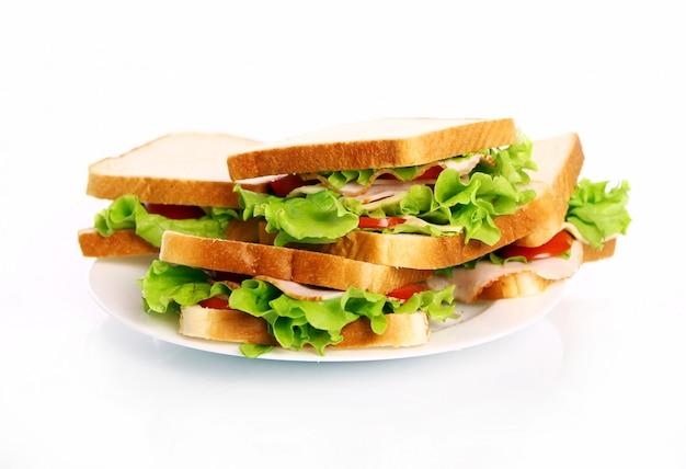 Lekkere broodjes op het bord