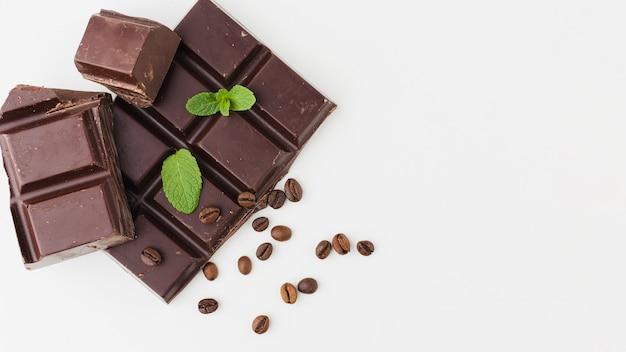 Lekkere chocolade met kopie ruimte