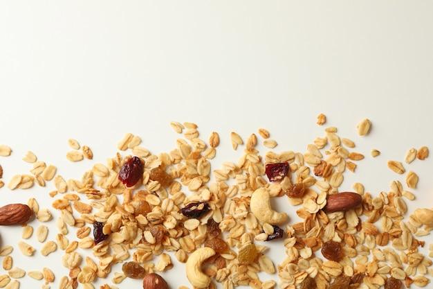 Lekkere granola, noten en rozijnen