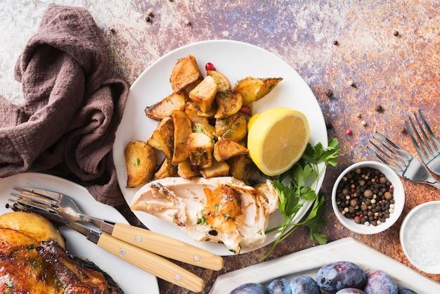 Lekkere thanksgiving-maaltijd boven weergave