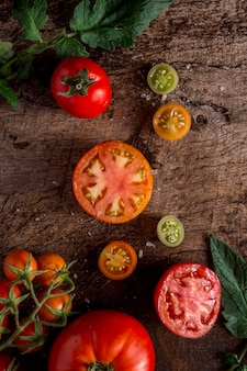 Lekkere tomatenregeling plat