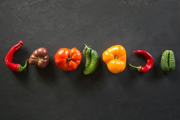 Lelijke biologische kleurrijke groenten