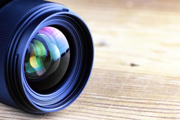 Lens met kleurreflectiefoto