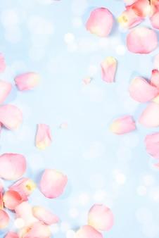 Lente achtergrond met bloemblaadjes