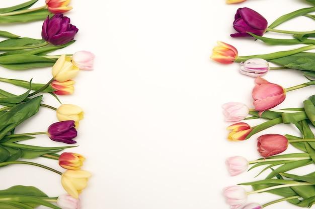 Lente bloemen achtergrond met kopie ruimte
