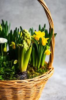 Lente bloemen interieur samenstelling