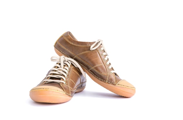 Leren schoenen geïsoleerd op wit