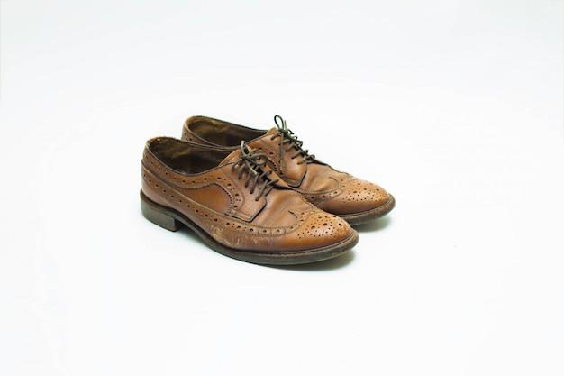 Leren schoenen geïsoleerd