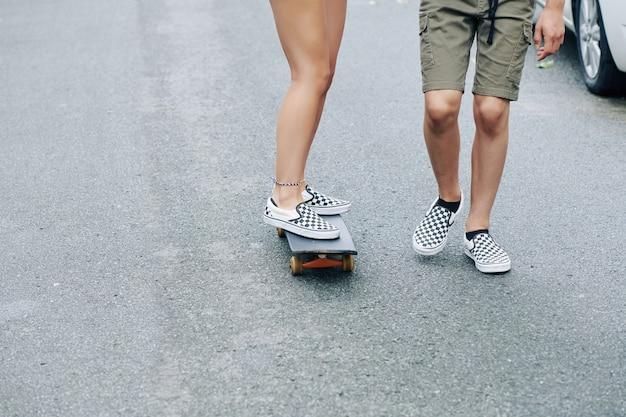 Les skateboarden