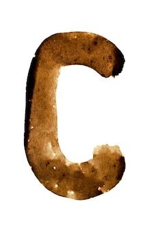Letter c - alfabet in koffie