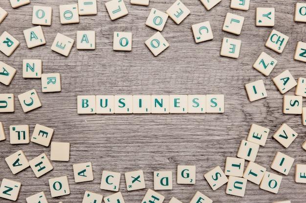 Letters die het woord bedrijf vormen
