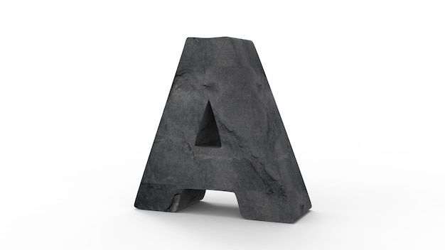 Lettertype van een te maken van stenen muur geïsoleerd op wit